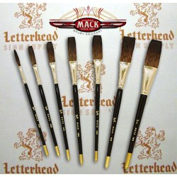 "Flat Lettering Brush ""Soft Stroke"" Brown series-1992"
