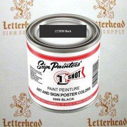 1 shot art poster colors paint black ZZ3099 quart