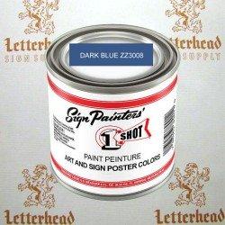 1 shot art poster colors paint dark blue ZZ3008 quart