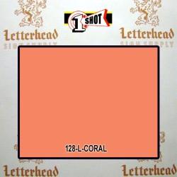1 Shot Lettering Enamel Paint Coral 120L - 1/4 Pint