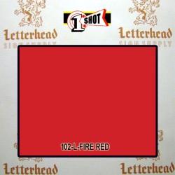 1 Shot Lettering Enamel Paint Fire Red 102L - 1/4 Pint