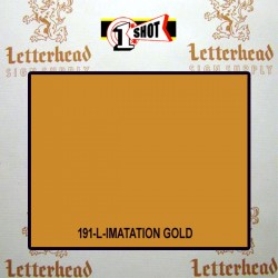 1 Shot Lettering Enamel Paint Imitation Gold 191L - 1/4 Pint
