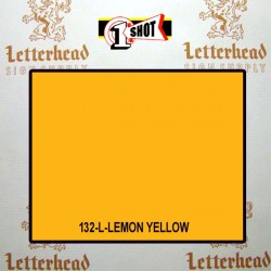1 Shot Lettering Enamel Paint Lemon Yellow 132L - 1/4 Pint