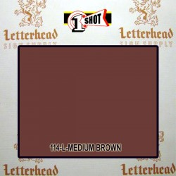 1 Shot Lettering Enamel Paint Medium Brown 114L - 1/4 Pint
