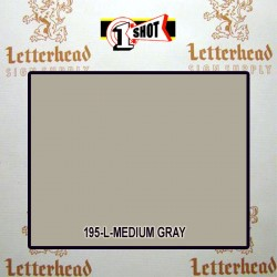 1 Shot Lettering Enamel Paint Medium Gray 195L - 1/4 Pint