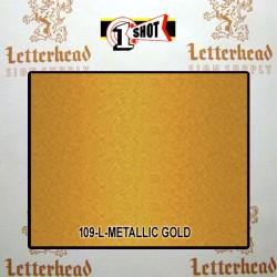 1 Shot Lettering Enamel Paint Metallic Gold 109L - 1/4 Pint