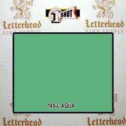 1 Shot Lettering Enamel Paint Aqua 149L - 1/2 Pint