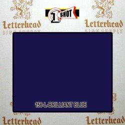 1 Shot Lettering Enamel Paint Brilliant Blue 156L - 1/2 Pint