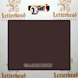 1 Shot Lettering Enamel Paint Dark Brown 115L - 1/2 Pint