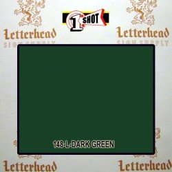 1 Shot Lettering Enamel Paint Dark Green 148L - 1/4 Pint