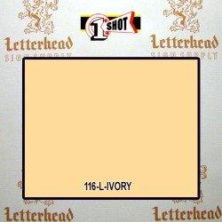 1 Shot Lettering Enamel Paint Ivory 116L - 1/4 Pint