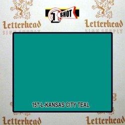 1 Shot Lettering Enamel Paint Kansas City Teal 157L - 1/4 Pint