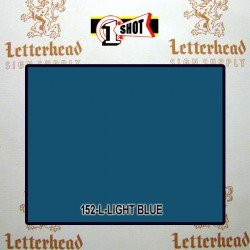 1 Shot Lettering Enamel Paint Light Blue 152L - 1/4 Pint