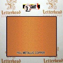 1 Shot Lettering Enamel Paint Metallic Copper 110L - 1/4 Pint