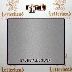 1 Shot Lettering Enamel Paint Metallic Silver 193L - 1/2 Pint