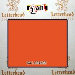 1 Shot Lettering Enamel Paint Orange 124L - 1/2 Pint
