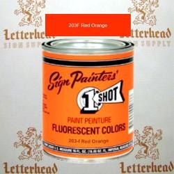 1 Shot Lettering Enamel Paint Red Orange 203F - Quart