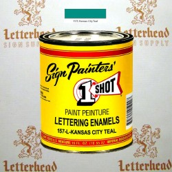 1 Shot Lettering Enamel Paint Kansas City Teal 157L - Pint