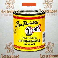 1 Shot Lettering Enamel Paint Orange 124L - Quart
