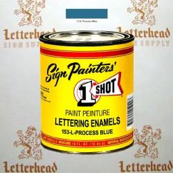 1 Shot Lettering Enamel Paint Process Blue 153L - Pint