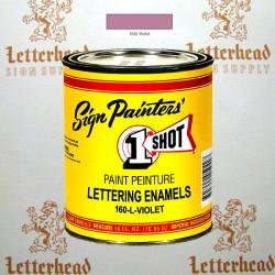 1 Shot Lettering Enamel Paint Violet 160L - Pint