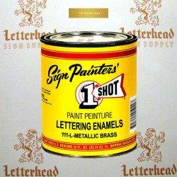 1 Shot Lettering Enamel Paint Metallic Brass 111L - Quart