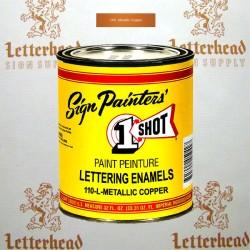 1 Shot Lettering Enamel Paint Metallic Copper 110L - Quart
