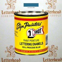 1 Shot Lettering Enamel Paint Process Blue 153L - Quart