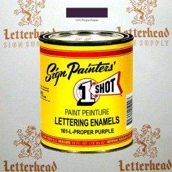 1 Shot Lettering Enamel Paint Proper Purple 161L - Pint