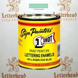 1 Shot Lettering Enamel Paint Robin Egg Blue 151L - Quart