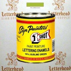1 Shot Lettering Enamel Paint Sublime Green 141L - Quart