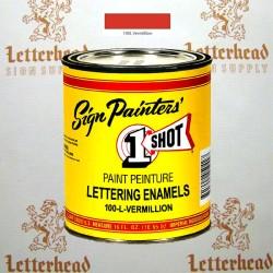 1 Shot Lettering Enamel Paint Vermillion 100L - Pint